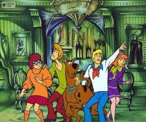 Scooby Doo und seine Bande von Freunden haben Angst puzzle