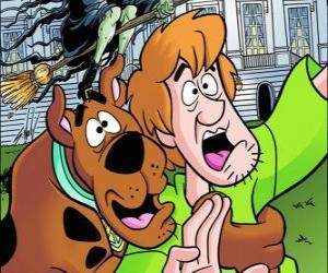 Scooby-Doo und seine Freunde Shaggy läuft erschrocken weg puzzle