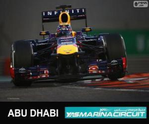 Sebastian Vettel feiert seinen Sieg in der Grand Prix von Abu Dhabi 2013 puzzle