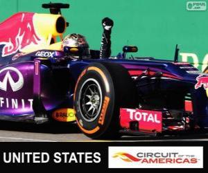 Sebastian Vettel feiert seinen Sieg in der Grand Prix der USA 2013 puzzle