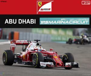 Sebastian Vettel, GP von Abu Dhabi 2016 puzzle