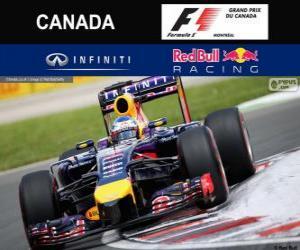 Sebastian Vettel - Red Bull - Grand Prix von Kanada 2014, 3. klassifiziert puzzle