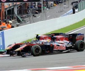Sebastien Buemi, Jaime Alguersuari - Toro Rosso - Spa-Francorchamps 2010 puzzle