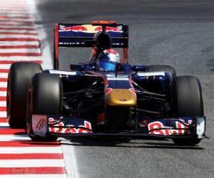 Sebastien Buemi - Toro Rosso - Barcelona 2011 puzzle