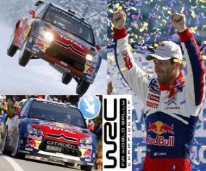 Sebastien Loeb (Citroen) World Rally Champion 2010 puzzle
