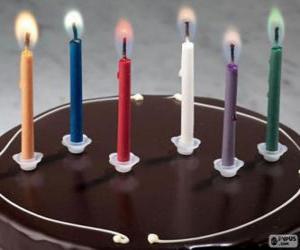 Sechsten Geburtstag puzzle
