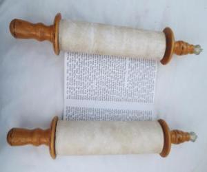 Sefer Torah, eine Schriftrolle der Tora puzzle