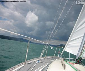 Segeln auf einem Segelboot puzzle