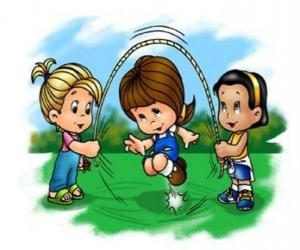Seilspringen - Wechseln seil gespielt von kindern puzzle