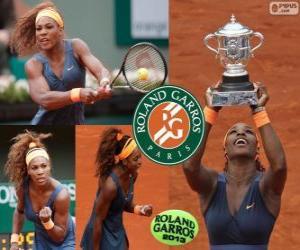 Serena Williams Meister Roland Garros 2013 puzzle