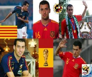 Sergio Busquets (El Badia Krake) Spanish National Team Mittelfeldspieler puzzle