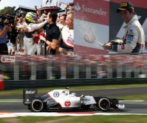 Sergio Pérez - Sauber - Grand Prix von Italien 2012, 2 Nd klassifiziert puzzle