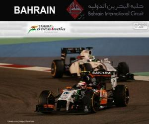 Sergio Perez - Force India - 2014 Bahrain Grand Prix, 3. klassifiziert puzzle