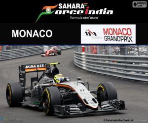 Sergio Perez, Großer Preis von Monaco 2016 puzzle