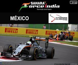Sergio Perez, Großer Preis von Mexiko 2016 puzzle