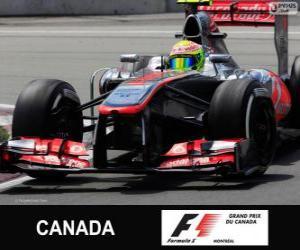 Sergio Perez - McLaren - Circuit Gilles Villeneuve Montreal, 2013 puzzle