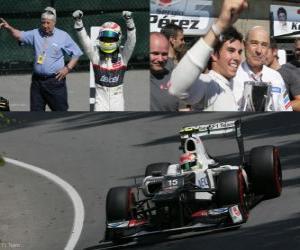 Sergio Perez - Sauber - Grand Prize of Canada (2012) (3. Platz) puzzle