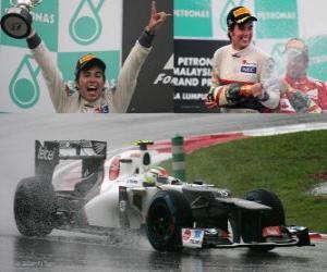 Sergio Perez - Sauber - Malaysian Grand Prix (2012) (2. Platz) puzzle