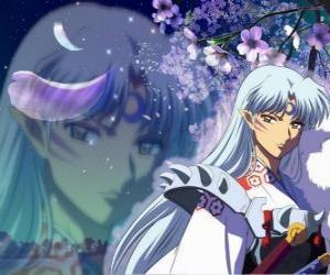 Sesshomaru, Inuyasha Bruder. Insgesamt skrupellosen Dämon, der seinen Bruder, den Menschen und die Schwachen hasst puzzle