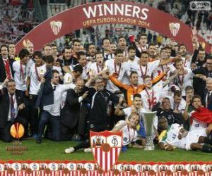 Sevilla FC, meister UEFA Europa League 2013-2014 puzzle