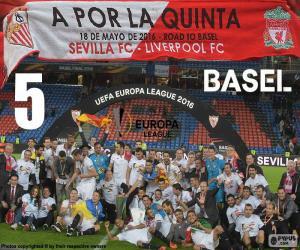 Sevilla, Meister Europa League 2015-2016 puzzle