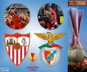Sevilla Vs Benfica. Europa-League 2013-2014 Finale im Juventus Stadium Turin, Italien puzzle
