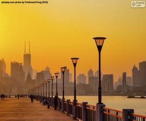 Shanghai vom Huangpu River puzzle