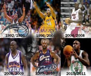Shaquille O'Neal als das dominierende Spieler in der Geschichte der NBA. Am 1. Juni gab 2011 sein Ruhestand. puzzle