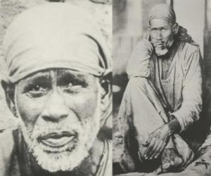 Shirdi Sai Baba, indischer guru, yogi und fakir, der wird von seinen anhängern wie ein heiliger puzzle