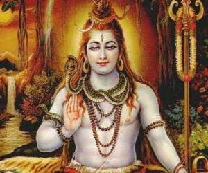 Shiva - Der Zerstörer Gott in ther Tri-Murti, der hinduistischen Trinität puzzle