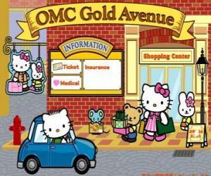 Shopping-Tag mit Hello Kitty und Freunde puzzle