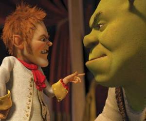 Shrek ist durch die Unterzeichnung eines Paktes mit dem leutseligen Verhandlungsführer Rumpelstilzchen düpiert puzzle