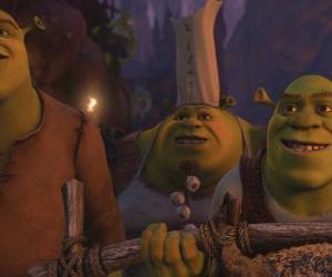 Shrek Oger zusammen mit anderen. puzzle