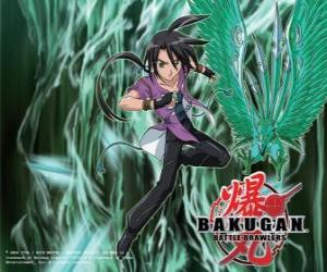 Shun und seine Bakugan Ventus puzzle