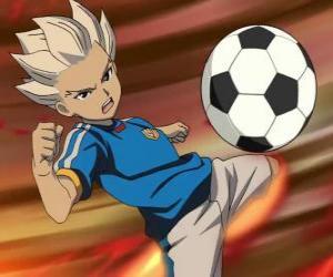 Shuya Gouenji oder Axel Blaze, Stürmer und Torschütze der Raimon Team in die Abenteuer von Inazuma Elf puzzle