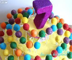 Siebten Geburtstag puzzle