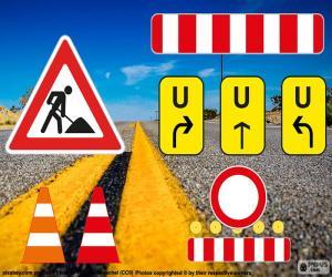 Signalen Baustellen-Schilder puzzle