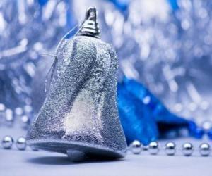 Silber Weihnachtsglocke puzzle