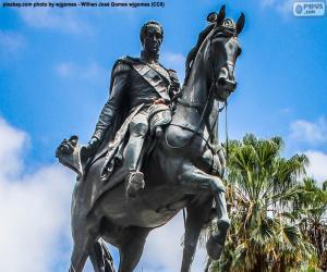 Simón Bolívar puzzle