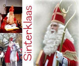 Sinterklaas. St. Nikolaus bringt Geschenke an die Kinder in den Niederlanden, Belgien und anderen mitteleuropäischen Ländern puzzle