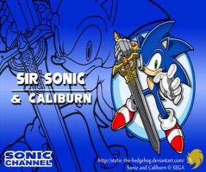 Sir Sonic, Sonic mit dem Schwert des Ritters puzzle