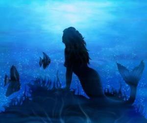 Sirene auf dem meeresboden puzzle