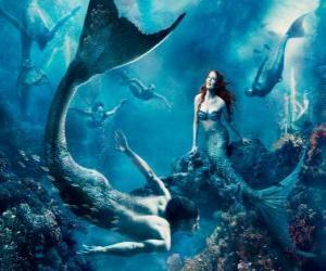 Sirenen auf dem meeresboden puzzle