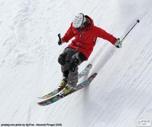 Skifahrer, absteigend puzzle
