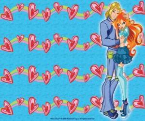 Sky, Prinz von Eraklion und Bloom in der Liebe puzzle
