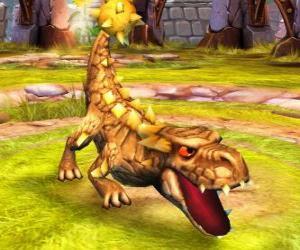 Skylander Bash, die gewaltige Dinosaurier. Erde Skylanders puzzle