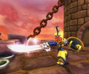 Skylander Chop Chop, ein harter Krieger mit Schwert und Schild. Untoter Skylanders puzzle