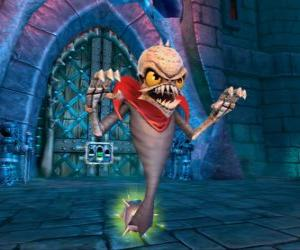 Skylander Ghost Roaster, eine Kreatur, die bösen Geister frisst. Untoter Skylanders puzzle