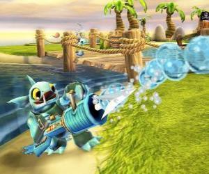 Skylander Gill Grunt, ein Wesen, das nie können entkommen seine Beute. Wasser Skylanders puzzle
