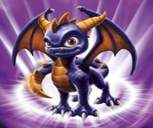 Skylander Spyro ist der Drache ein ernst zu nehmender Gegner, die fliegen und schießen kann Feuer aus dem Mund. Magie Skylanders puzzle